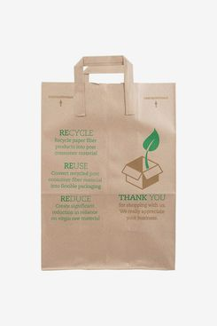 Paper Grocery Bags with Handles (50-Pack)