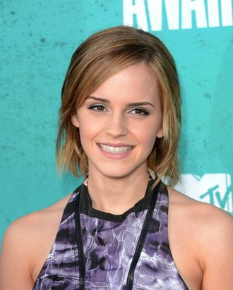 Actress Emma Watson arrives at the 2012 MTV Movie Awards held at Gibson Amphitheatre on June 3, 2012 in Universal City, California.