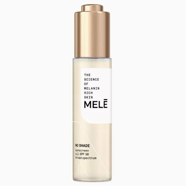 Melē No Shade Sunscreen Oil Broad Spectrum for Melanin Rich Skin SPF 30