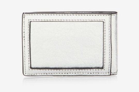 Rebecca Minkoff Metallic Leather Metro Card Case