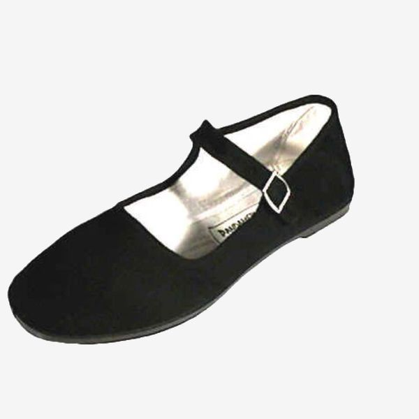 Cotton Mary Jane With Padded Insole