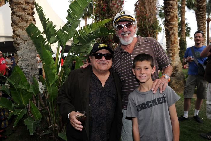 Danny DeVito, producer Lou Adler, and his son Oscar.