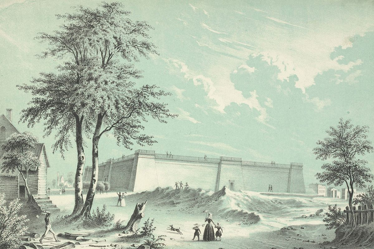 "<span class=""clay-designed kiln-phrase"">ca. 1850s</span>The Croton Reservoir."