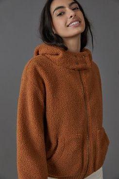 Porridge Gillian Sherpa Hoodie Jacket
