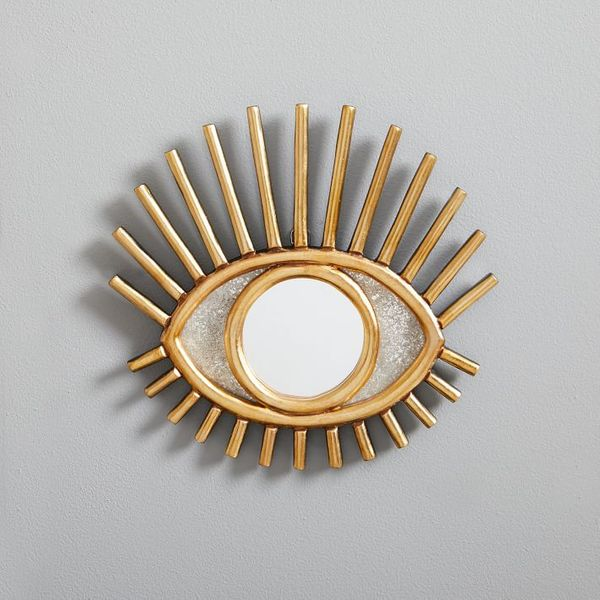 peruvian wall mirror gold eye decorative piece - strategist best decorative mirrors
