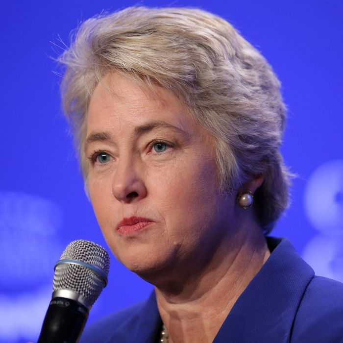 Mayor Annise Parker of Houston speaks at a press conference on