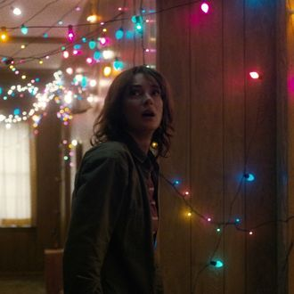 make your own stranger things christmas light messages - Stranger Things Christmas Decorations