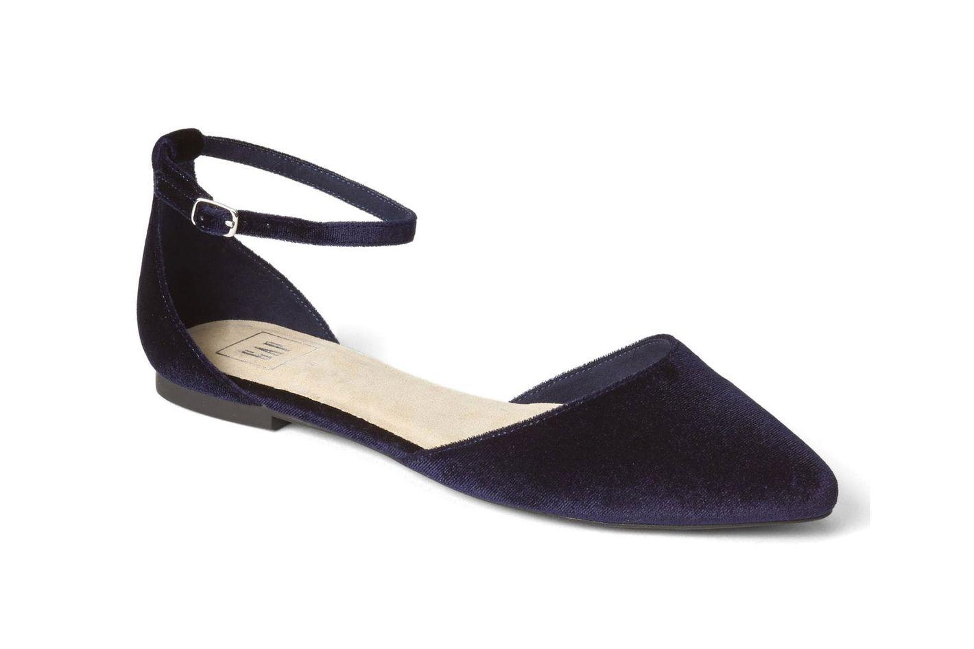Gap Velvet Ankle-Strap d'Orsay Flats