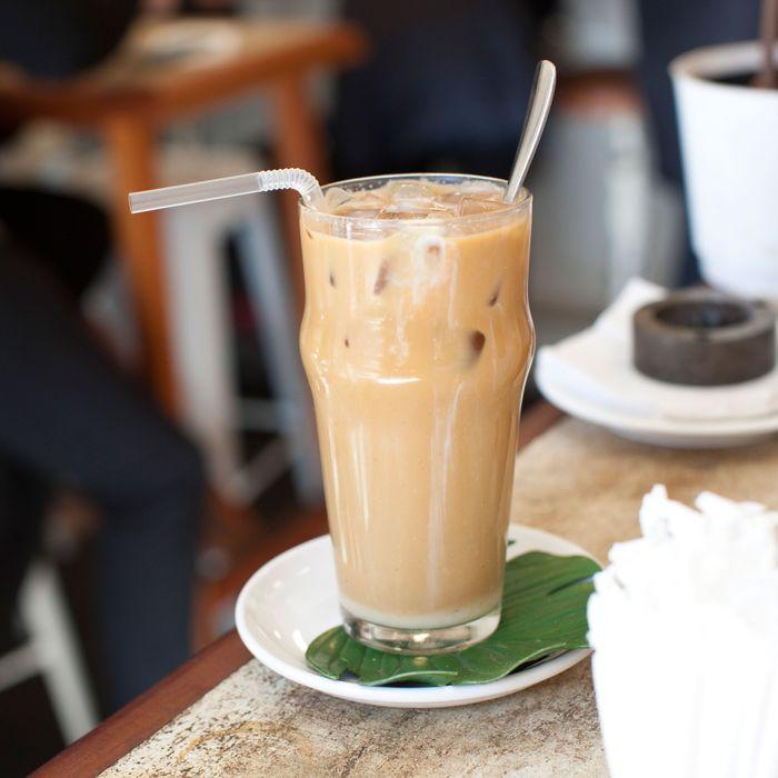 El Rey's iced Vietnamese coffee.