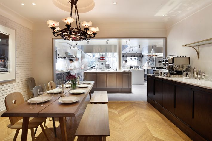 Check out the kitchen while you dine.