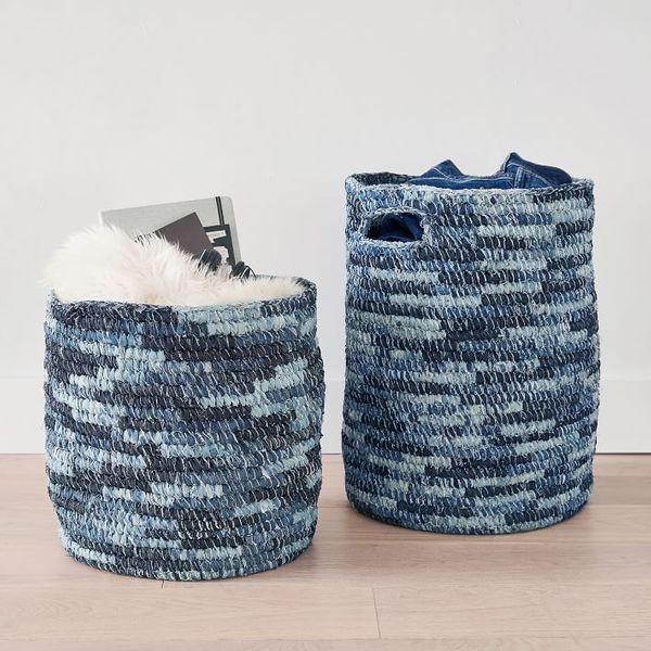 Wrangler Recycled Denim Storage Bins