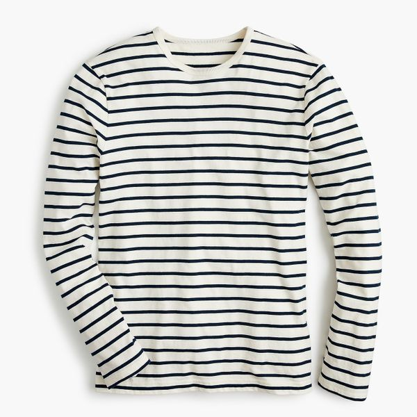 Essential Long-Sleeved T-shirt in Deck Stripe