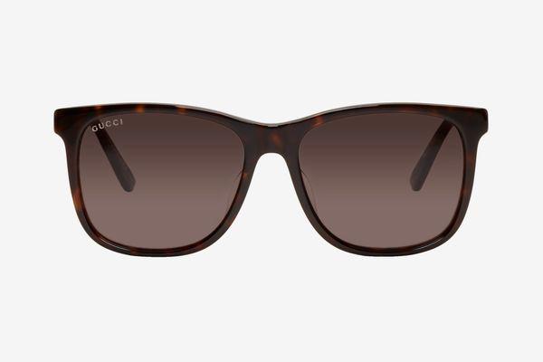Gucci Tortoiseshell Classic Wayfarer Sunglasses