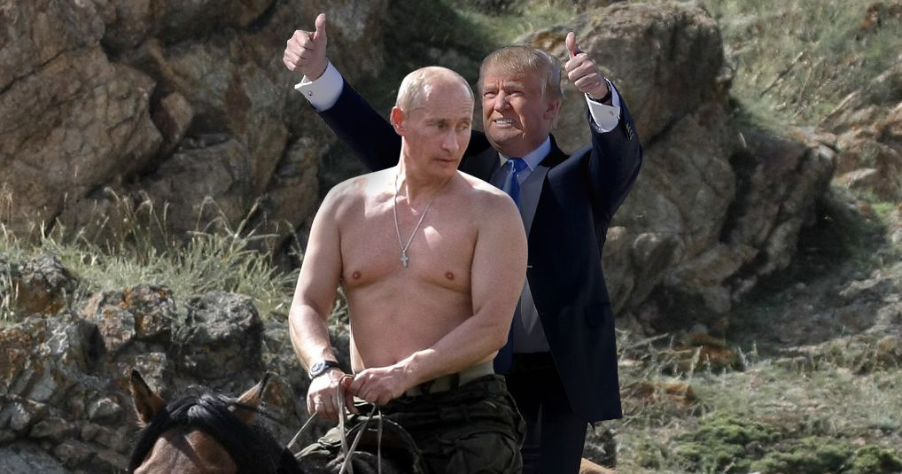 ... that not voting for Donald Trump risks nuclear war with Russia