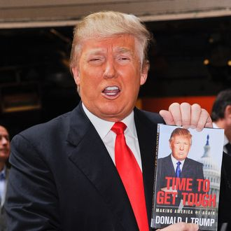 TV personality Donald Trump leaves the