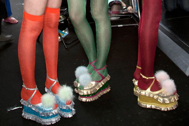 Photo 7 from Nicholas Kirkwood for Meadham Kirchhoff Lamé Platform Sandals, S/S 2012