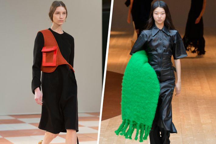 5a4e2de09d68 Whether her models had a blanket tucked under one arm or a bag shaped like  a hot-water bottle slung across their bodies