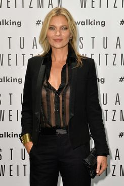 Model Kate Moss attends the Kate Moss Celebrates Stuart Weitzman Flagship Store Opening Designed By Zaha Hadid  as a part of Milan Fashion Week Womenswear Spring/Summer 2014 on September 19, 2013 in Milan, Italy.