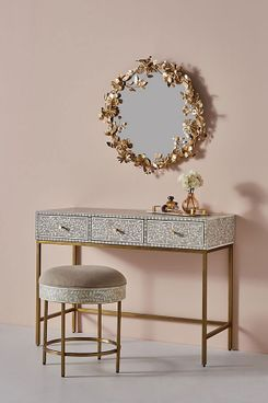 Anthropologie Scroll Vine Inlay Vanity Table
