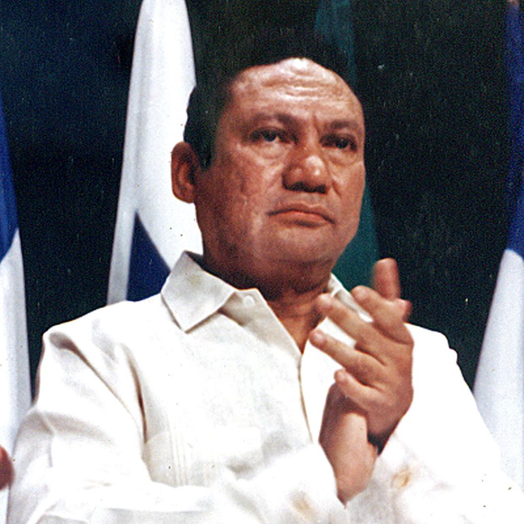 28 Aug 2007, Panama --- Manuel Noriega takes part in a news conference at the Atlapa center in this file photo in Panama City in this October 11,1998 file photo . A U.S. judge on Tuesday approved the extradition of former Panamanian strongman Noriega to France, where he is accused of money laundering, when his long Florida prison sentence ends next month. REUTERS/Alberto Lowe/File (PANAMA) --- Image by ? Reuters/Reuters/Corbis