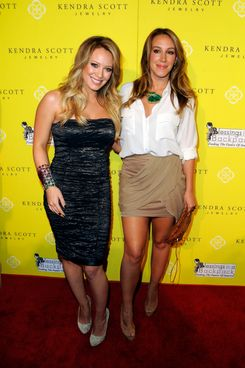Hilary Duff, Haylie Duff== Grand Opening Of Kendra Scott Jewelry's Beverly Hills Store== Andaz Hotel, West Hollywood, CA== August 10, 2011== ?Patrick McMullan== Photo - ANDREAS BRANCH/PatrickMcMullan.com==