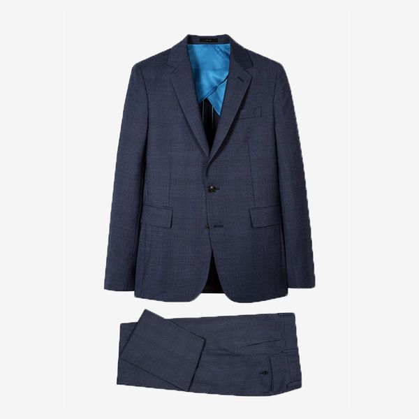 Paul Smith Men's Navy Wool Check Buggy-Lined Suit