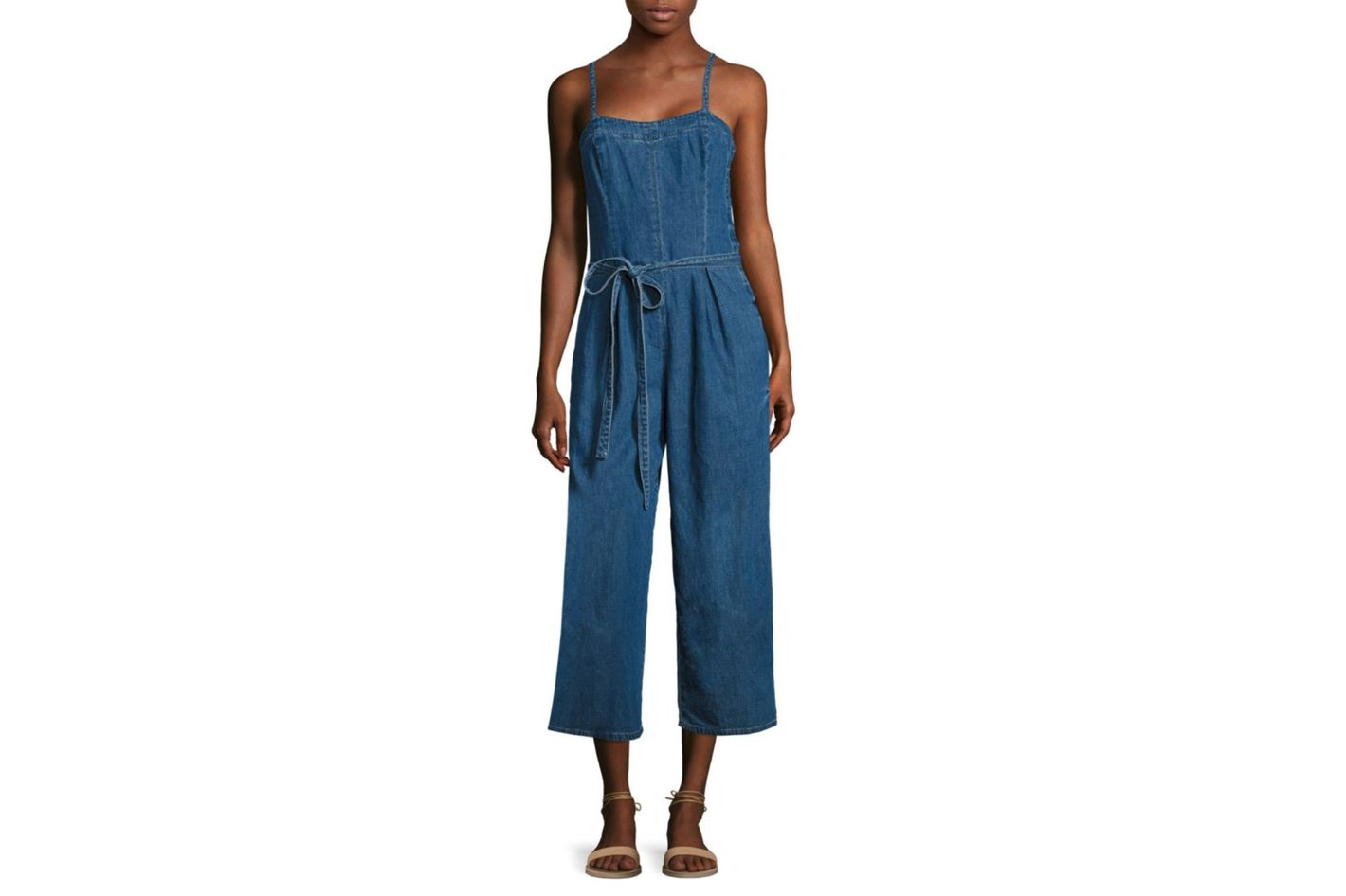 AG Gisele Wide-Leg Denim Jumpsuit