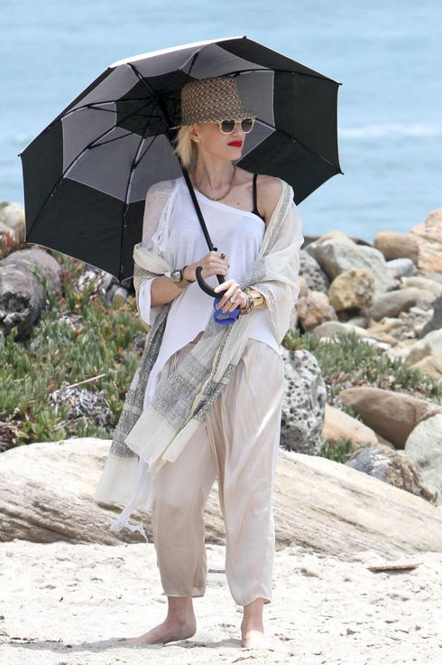 Gwen Stefani is seen in Malibu on July 13, 2013 in Los Angeles, California.