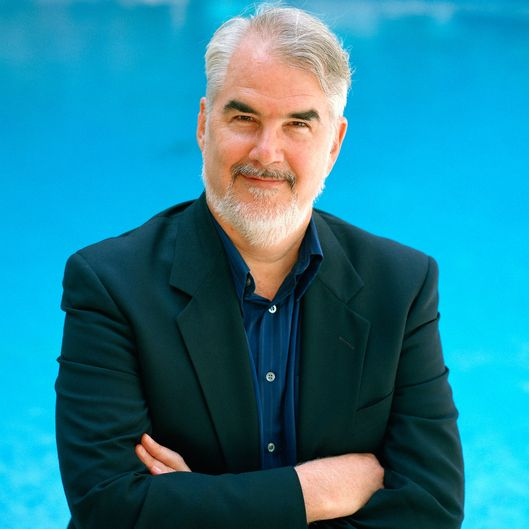 18 May 1999, Cannes, France, France --- Critic Richard Corliss at Cannes Film Festival --- Image by ? Eric Robert & Stephane Cardinale/Sygma/Corbis