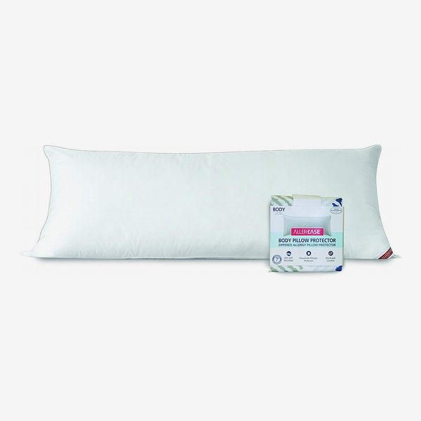 AllerEase Zippered Soft Body Pillow With Plush Microfiber Cover