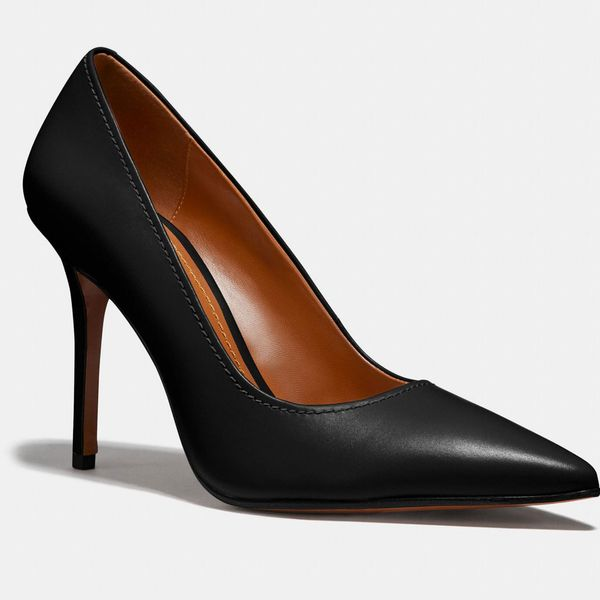 Classic Coach Waverly pump heels with pointed toes, in black. 33 Things on Sale You'll Actually Want to Buy: From Adidas to Le Creuset - The Strategist
