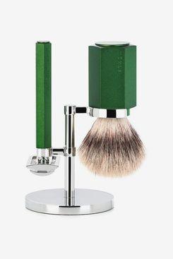 MÜHLE Hexagon Forest 3-Piece Silvertip Fiber Shaving Set