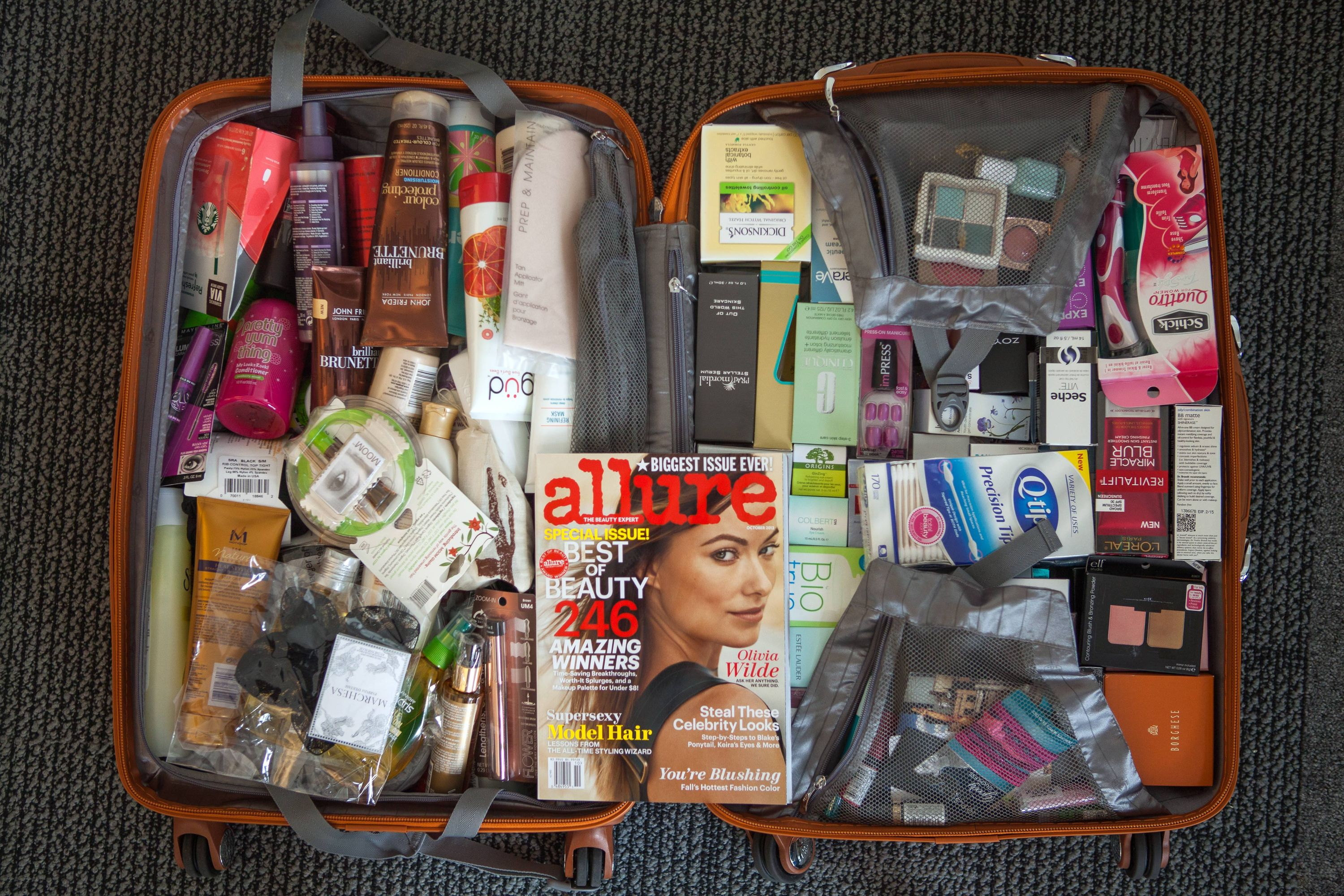Allure cosmetics makeup beauty swag bag goody bag