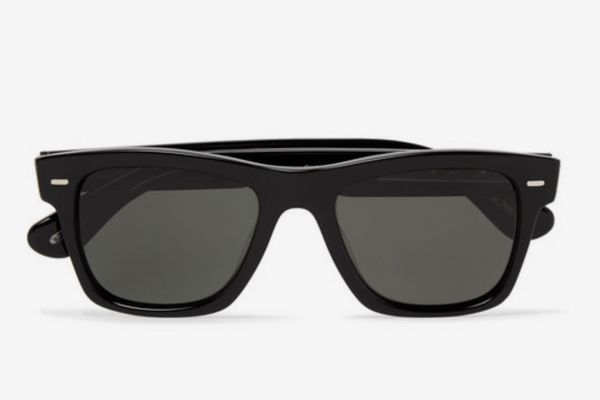 Oliver Peoples Oliver Sun Square-Frame Acetate Polarised Sunglasses