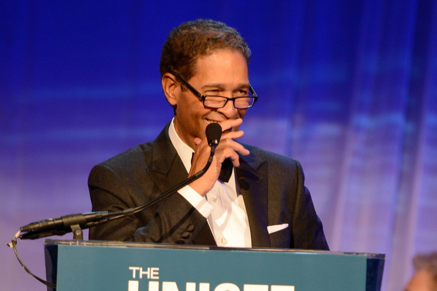 Bryant Gumbel speaks on stage at The Ninth Annual UNICEF Snowflake Ball at Cipriani, Wall Street on December 3, 2013 in New York City.