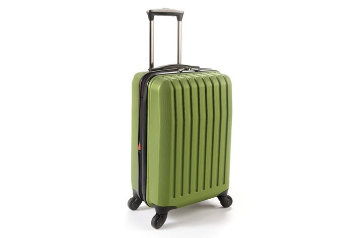 "dfd44a311 Brookstone Dash 4-Wheeled Expandable Carry-On ""I saw a chartreuse version  (they call it 'Asparagus,' but ugh) in a Brookstone store window once, ..."