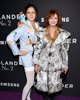 Miles Robbins and Susan Sarandon.