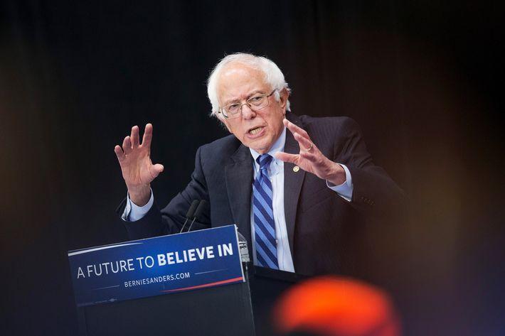 Bernie Sanders Campaigns In Indiana