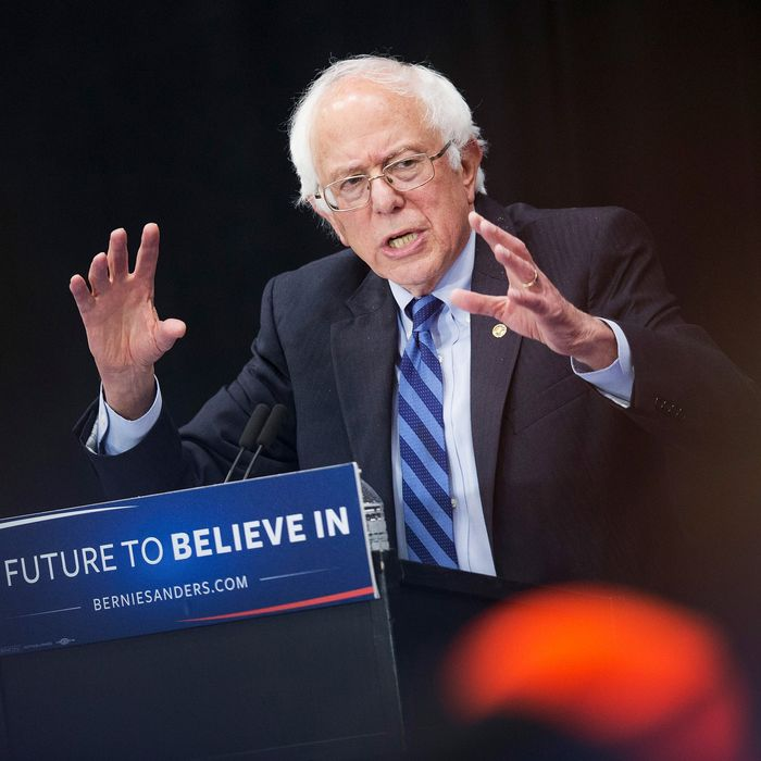 Bernie Sanders Campaigns In Indiana