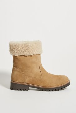 Louise Sherpa-Cuffed Ankle Boots