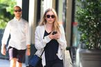 Elizabeth Olsen Visits Pastis; Sly and Arnold Rip Through a Magnum of Cabernet at Strip House