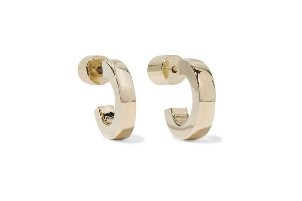 Jennifer Fisher Small Huggie gold-plated hoop earrings