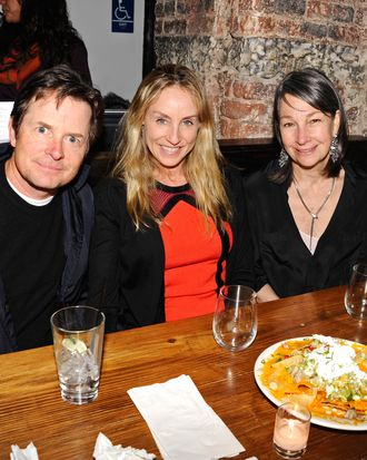 Michael J. Fox, Tracy Pollan, Brooke Garber Neidich - Ann Leary Book Launch Party for THE GOOD HOUSE - Ditch Plains UWS, NYC - January 16, 2013