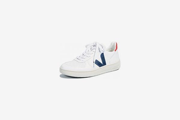 Veja V-10 Sneakers — White/Nautico/Pekin