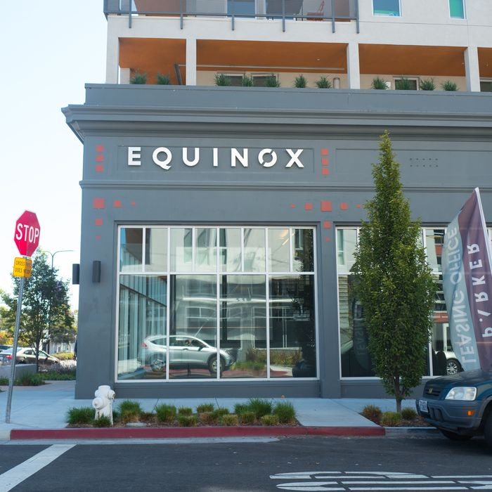 An upscale Equinox gym in downtown Berkeley, California.