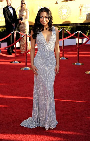 LOS ANGELES, CA - JANUARY 29:  Actress Naya Rivera arrives at the 18th Annual Screen Actors Guild Awards at The Shrine Auditorium on January 29, 2012 in Los Angeles, California.  (Photo by Frazer Harrison/Getty Images)