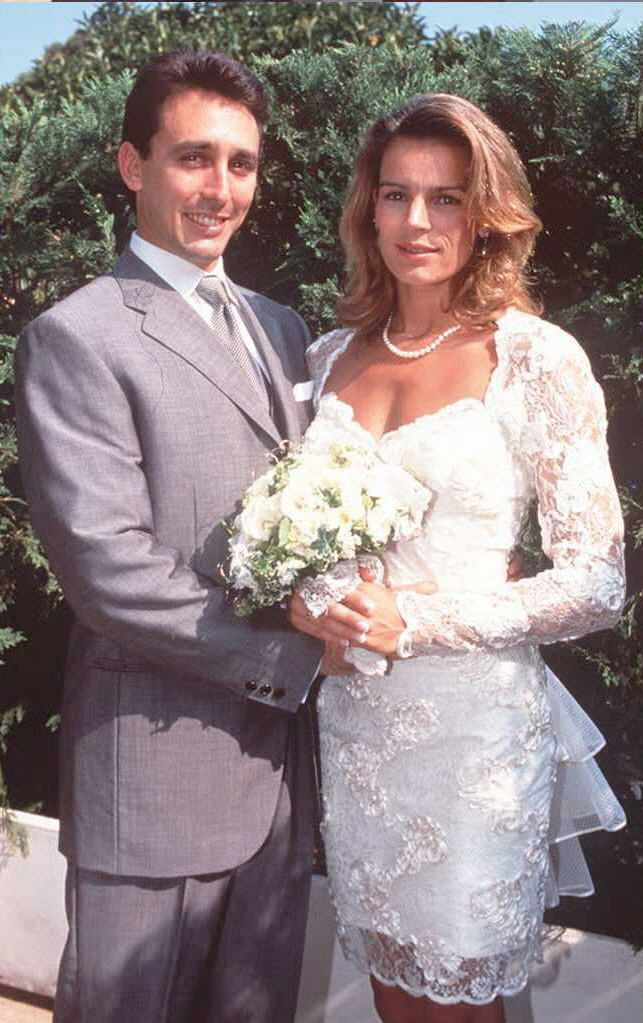 Daniel Ducruet and Princess Stephanie of Monaco on their wedding day.