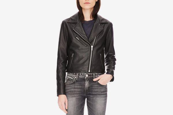 Nova Smooth Leather Jacket Black