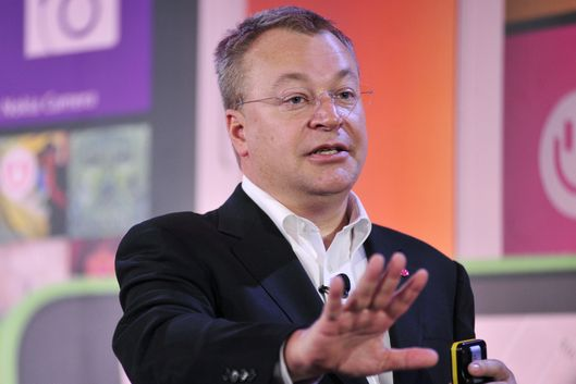 Stephen Elop, Executive Vice President of Devices and Services for Nokia, speaks at More Lumia, a media event in San Francisco, California on Wednesday, April 02, 2014.   Nokia announced the release of multiple smart phones and accessories.  AFP PHOTO / JOSH EDELSON        (Photo credit should read Josh Edelson/AFP/Getty Images)