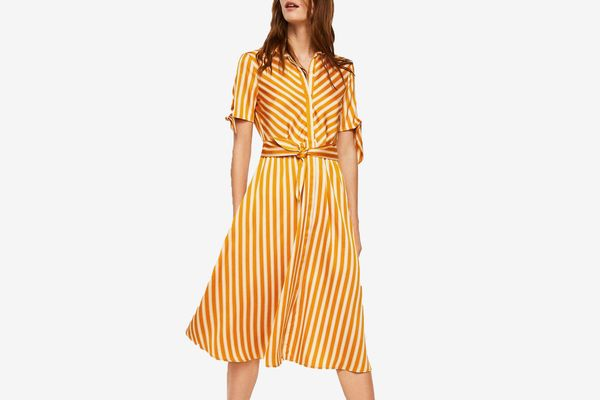 Mango Striped bow dress